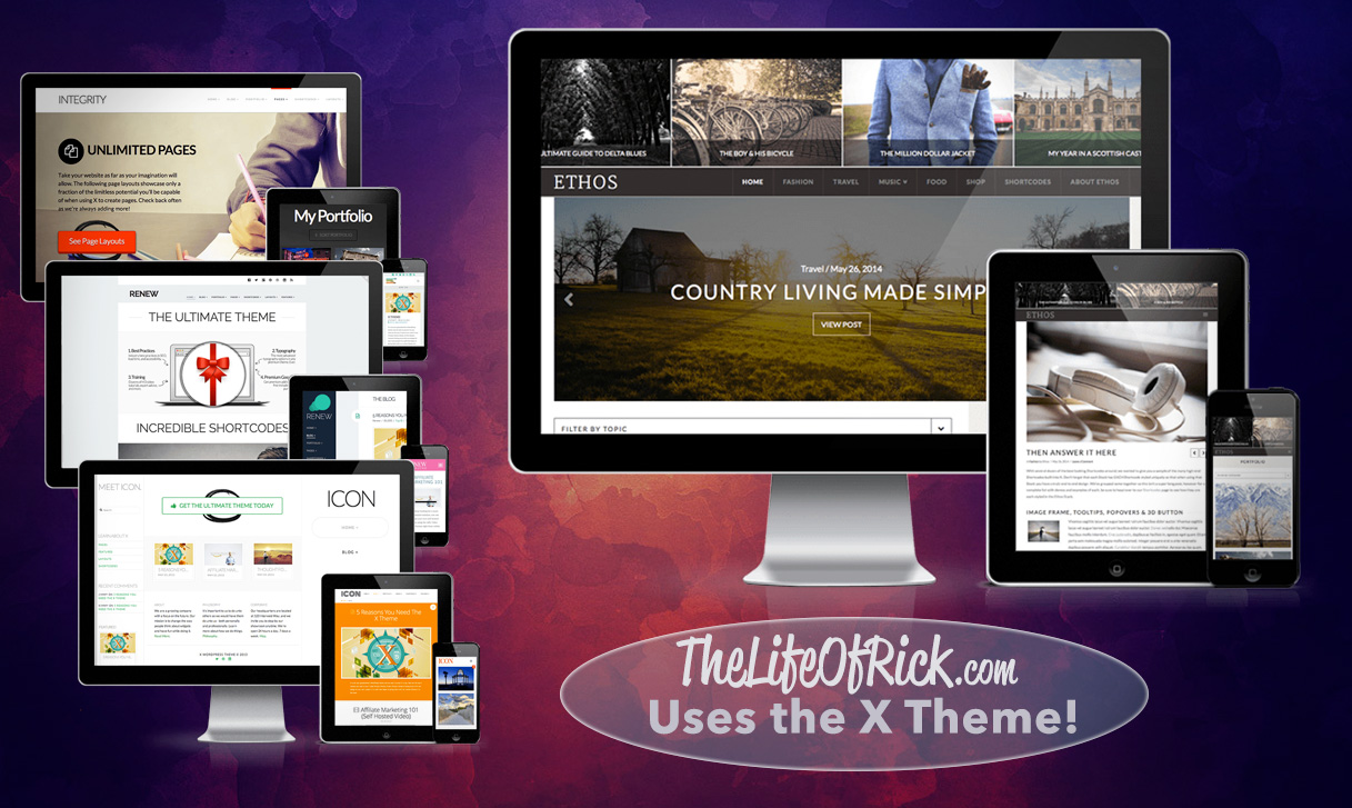 The LifeOfRick.com Uses the X Theme by Themeco