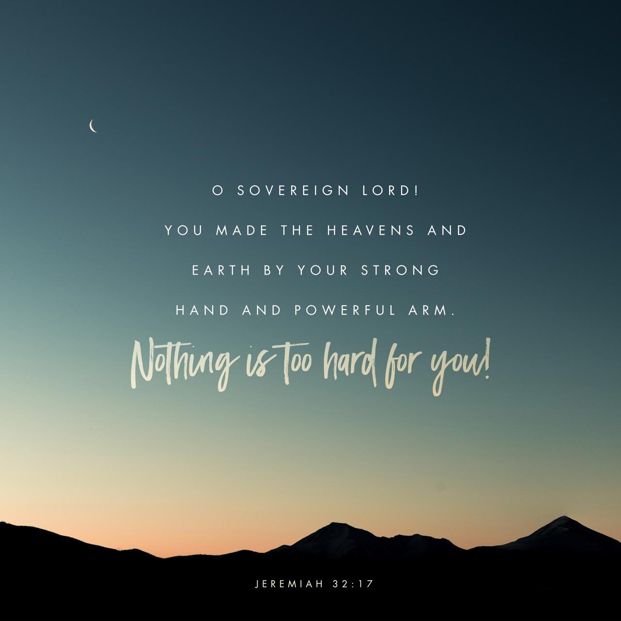 Black & White: Read - Jeremiah 32:17