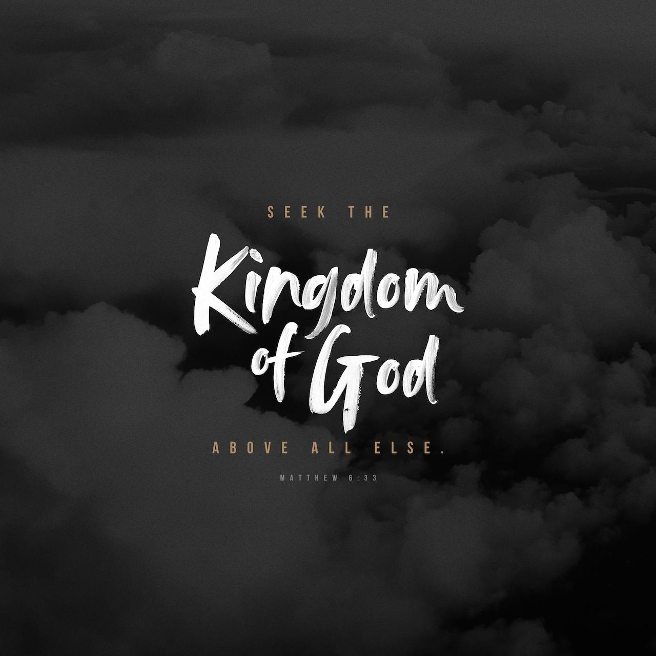 Black & White: Read - Matthew 6:33 NIV