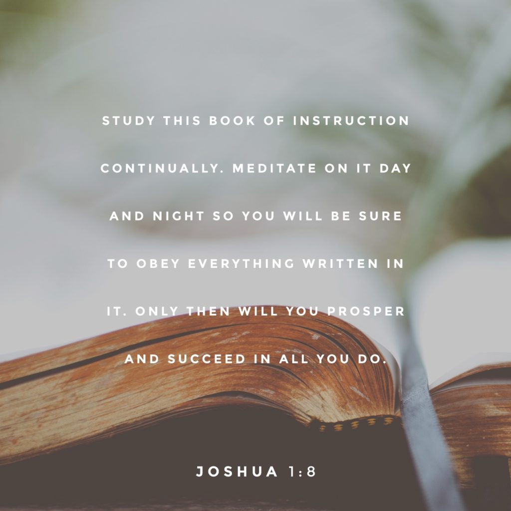 Black & White: Read - Joshua 1:8