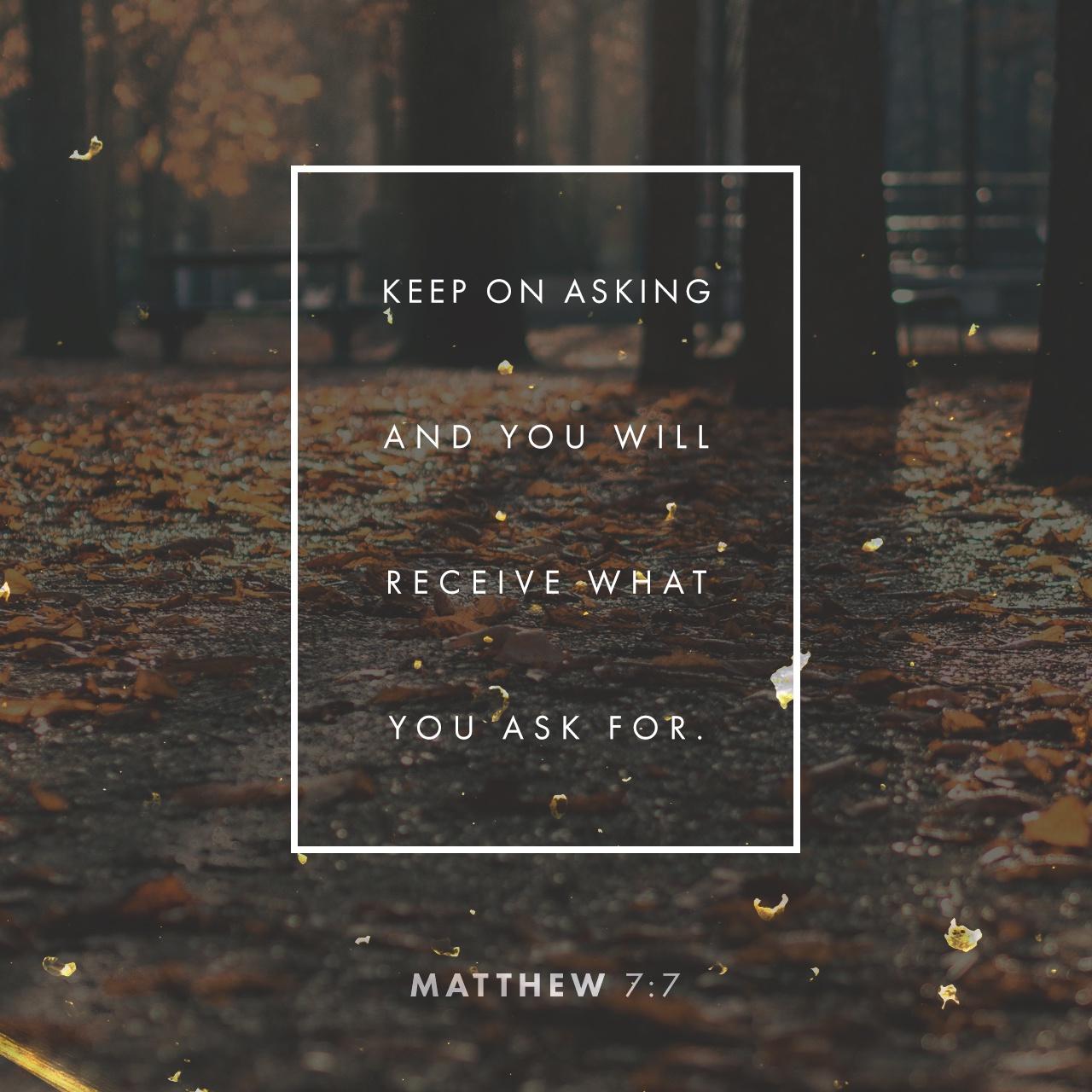 Black & White: Read - Matthew 7:7