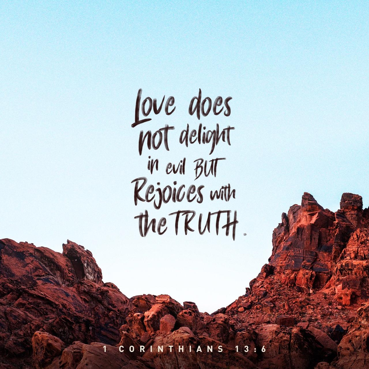 Black & White: Read - 1 Corinthians 13:6