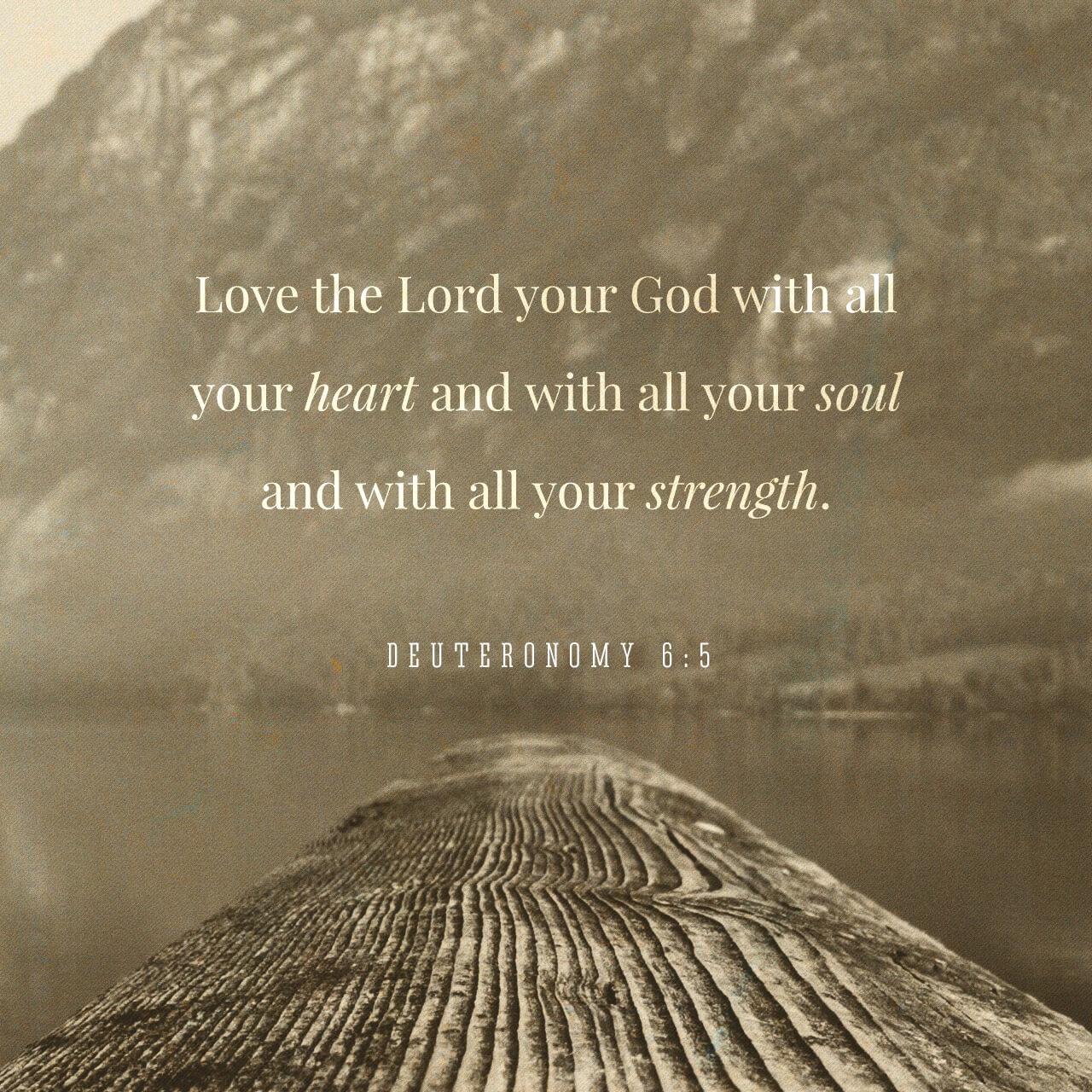 Black and White Read - Deuteronomy 6:5
